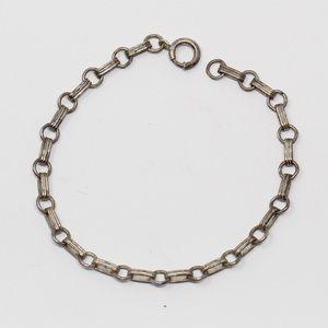 """VINTAGE Sterling Silver Link Bracelet 6.75"""""""